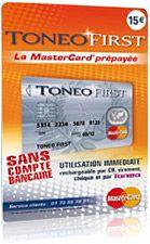 Carte bancaire ToneoFirst Mastercard